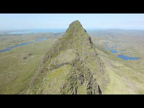 Suilven, Scotland, the world's coolest mountain, by quadcopter drone