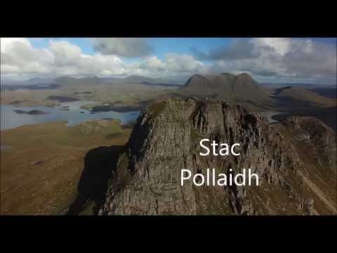 Stac Pollaidh Scotland from the air by drone