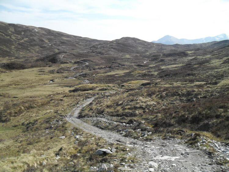 Blick zurück auf den Lairig Leacach Pass