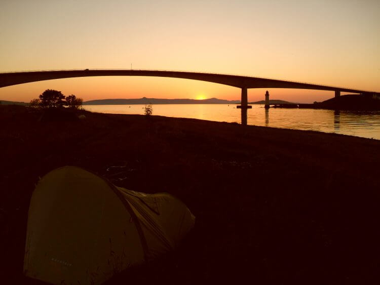Sunset at Skye Bridge