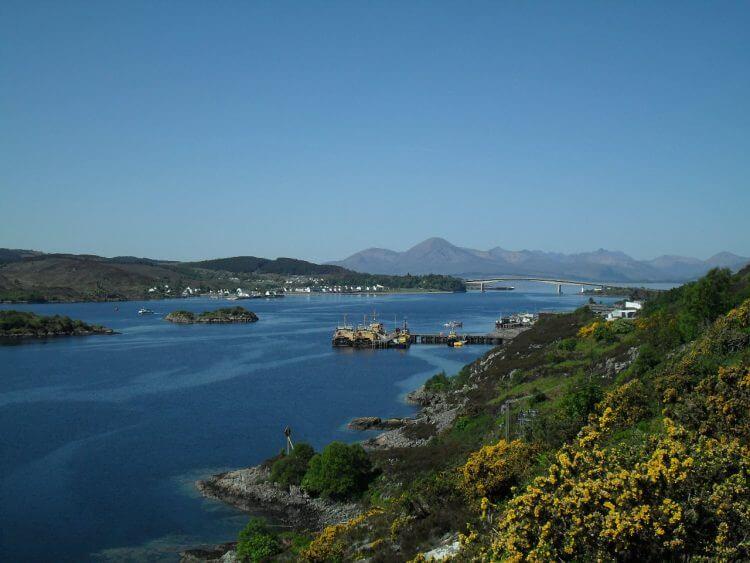 Blick zurück auf Skye Bridge