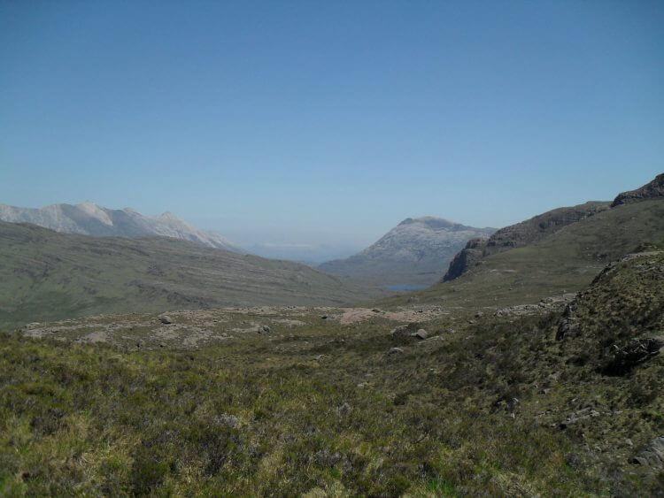 Blick nach Osten zum Sgùrr Dubh und Lochan Neimhe