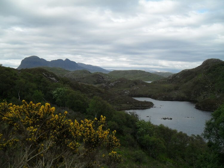 "<small>""...baith day and night my fancie's flight is ever wi ma Jean.""</small> <br/><br/> Loch Call an Uidhean und Suilven"