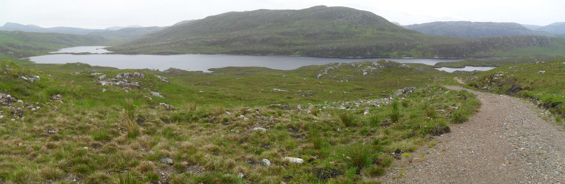 dann runter Richtung Loch an Leathiad Bhuain
