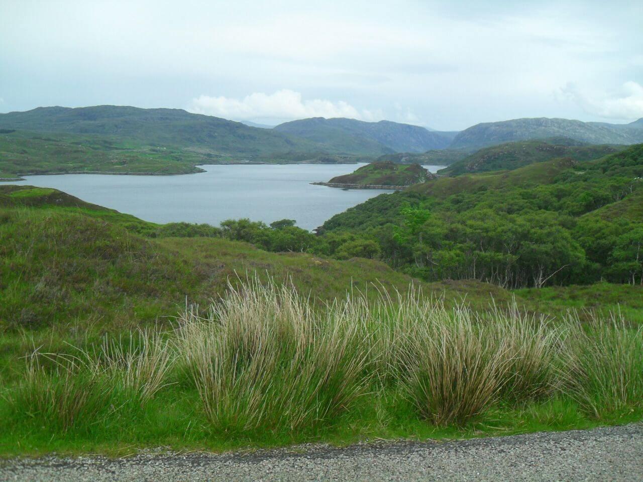 <em>Loch a' Chàirn Bàin</em>, der westliche Teil des Firth von Kylesku