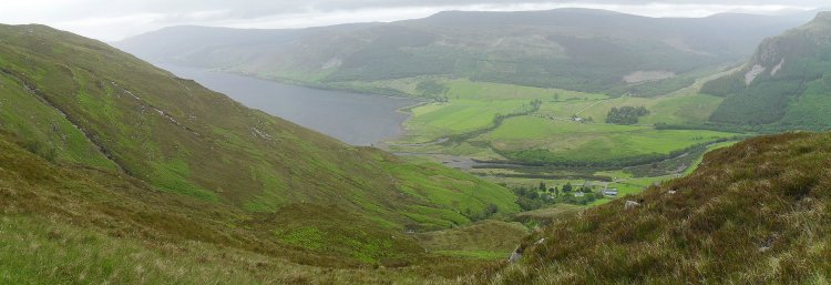 Blick hinab auf Loch Broom
